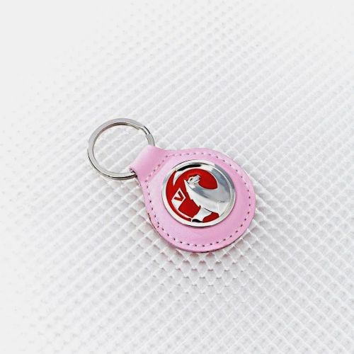 Vauxhall Pink Leather Keyring Officially Licensed